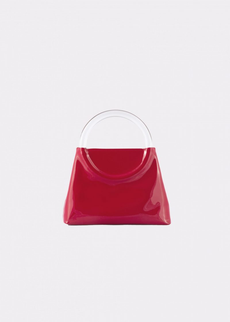 NIDO Bolla Mini Cherry Red patent leather/Plexy_front view