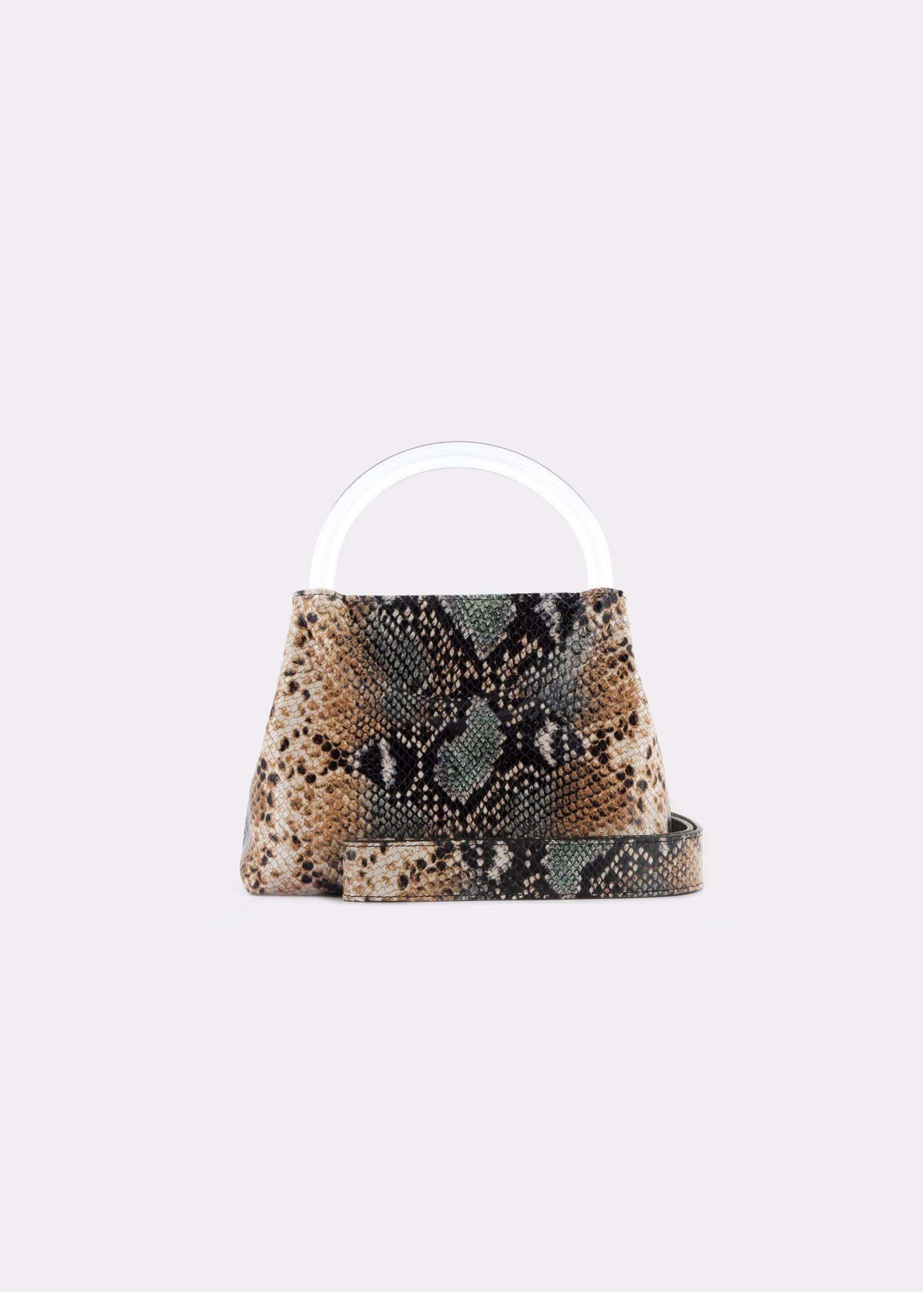 NIDO Bolla Mini Phyton Print/Plexy_shoulder strap view