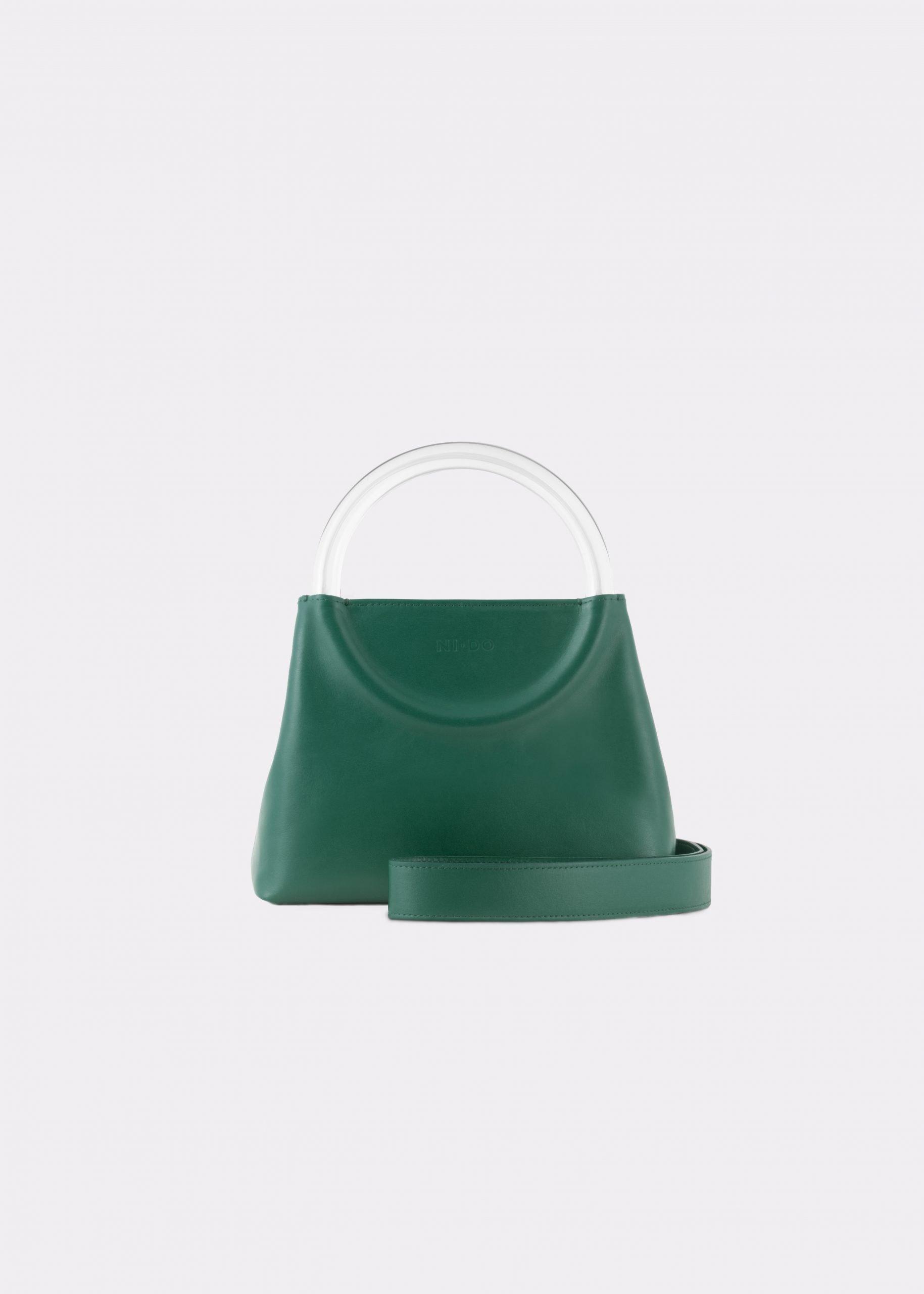 NIDO Bolla Mini Emerald Green/Plexy_shoulder strap view