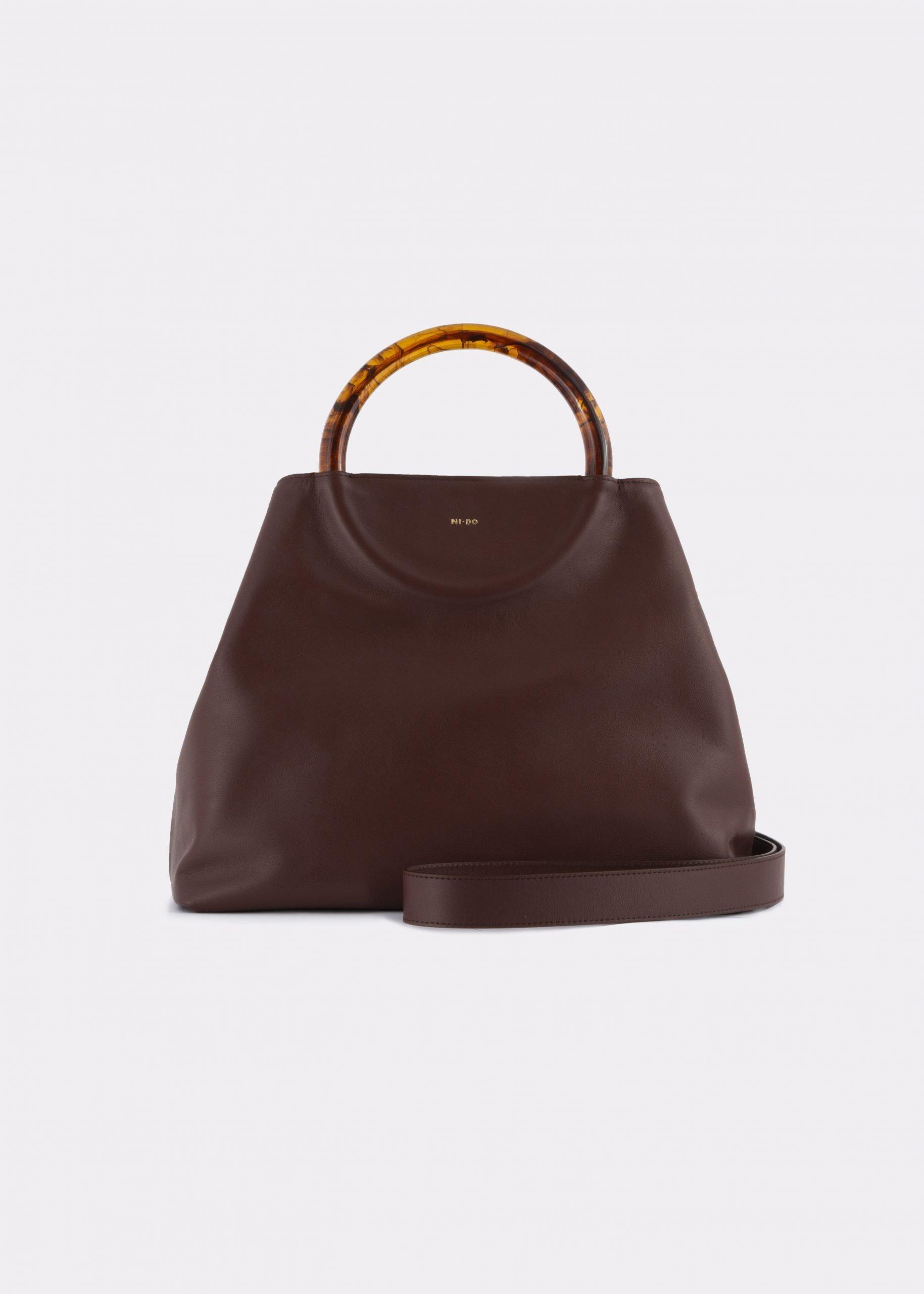 NIDO-Bolla-Maxi-Bag-brown-shoulder_strap_view
