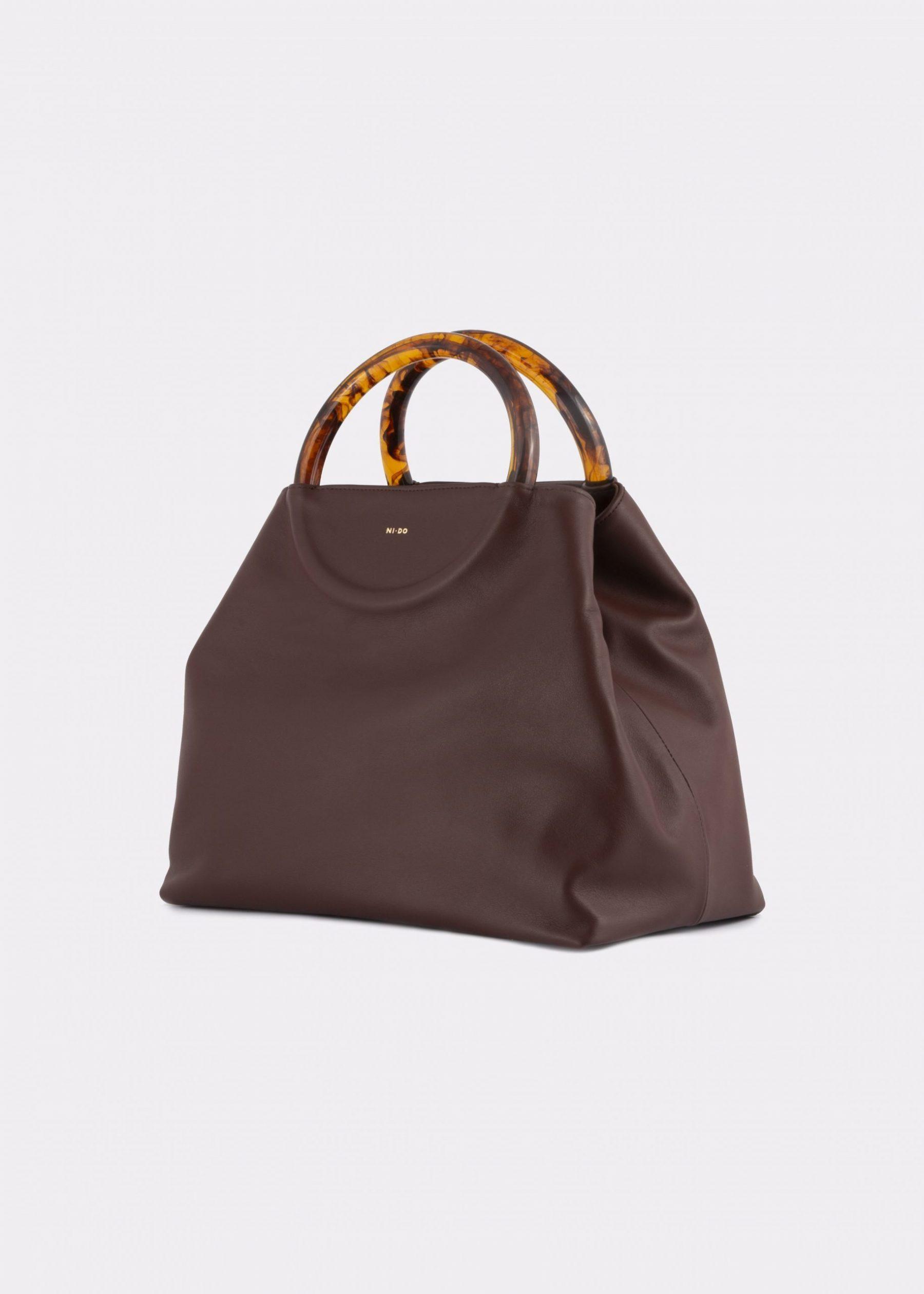 NIDO-Bolla-Maxi-Bag-brown-side_view