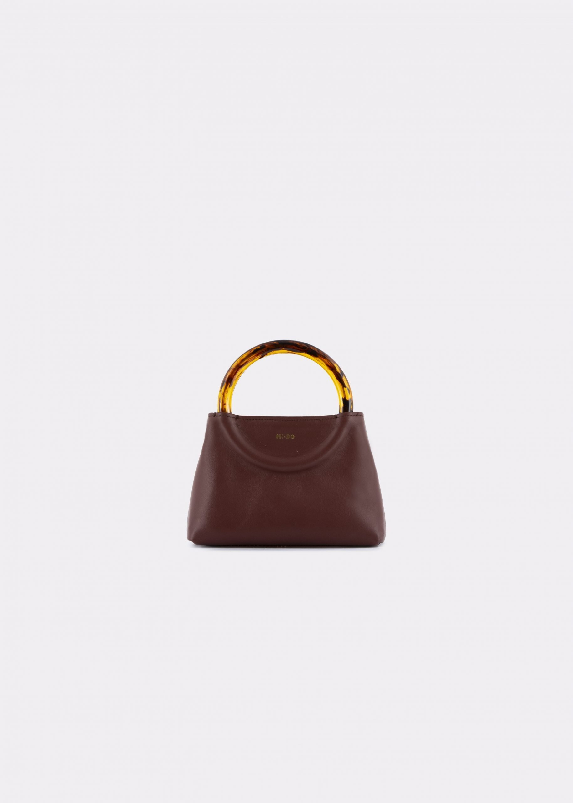 NIDO Bolla Micro bag brown leather Amber_front view