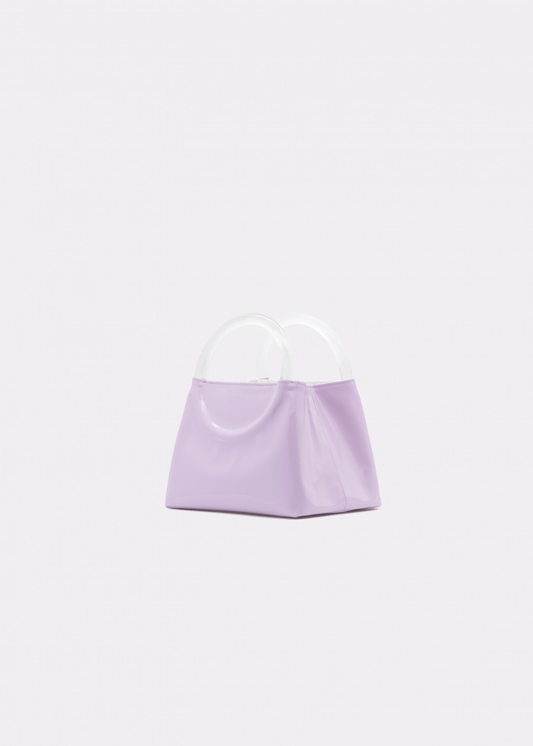 NIDO Bolla Micro bag liliac patent leather Plexy_front view