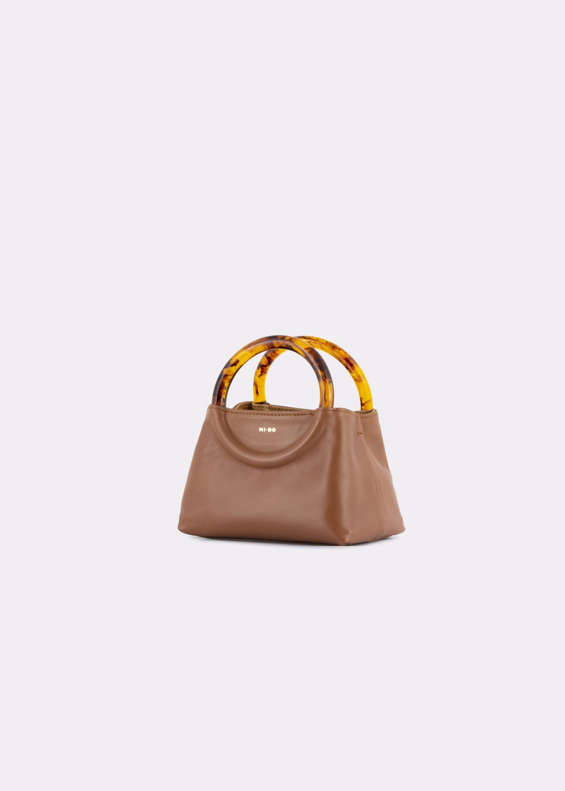 NIDO Bolla Micro bag biscuit leather Amber_side view