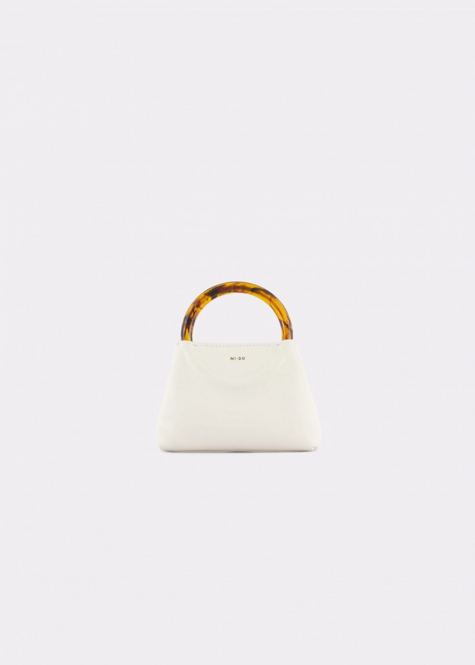 NIDO Bolla Micro bag soy milk leather Amber_front view