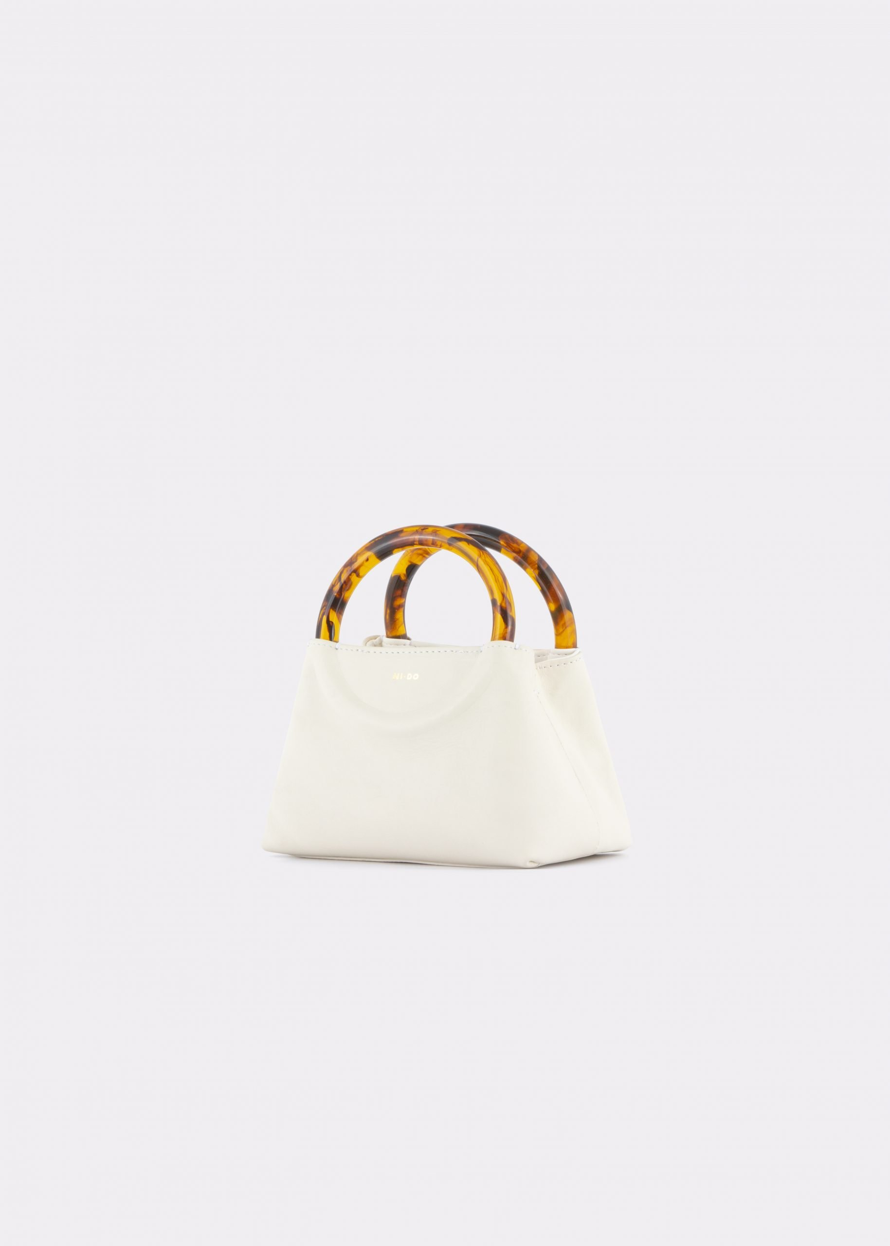 NIDO Bolla Micro bag soy milk leather Amber_side view