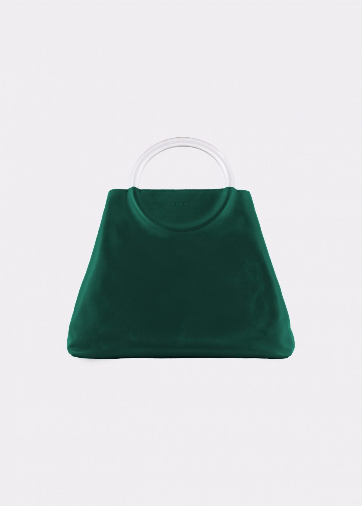 NIDO Bolla Maxi bag Emerald Green Plexy front view