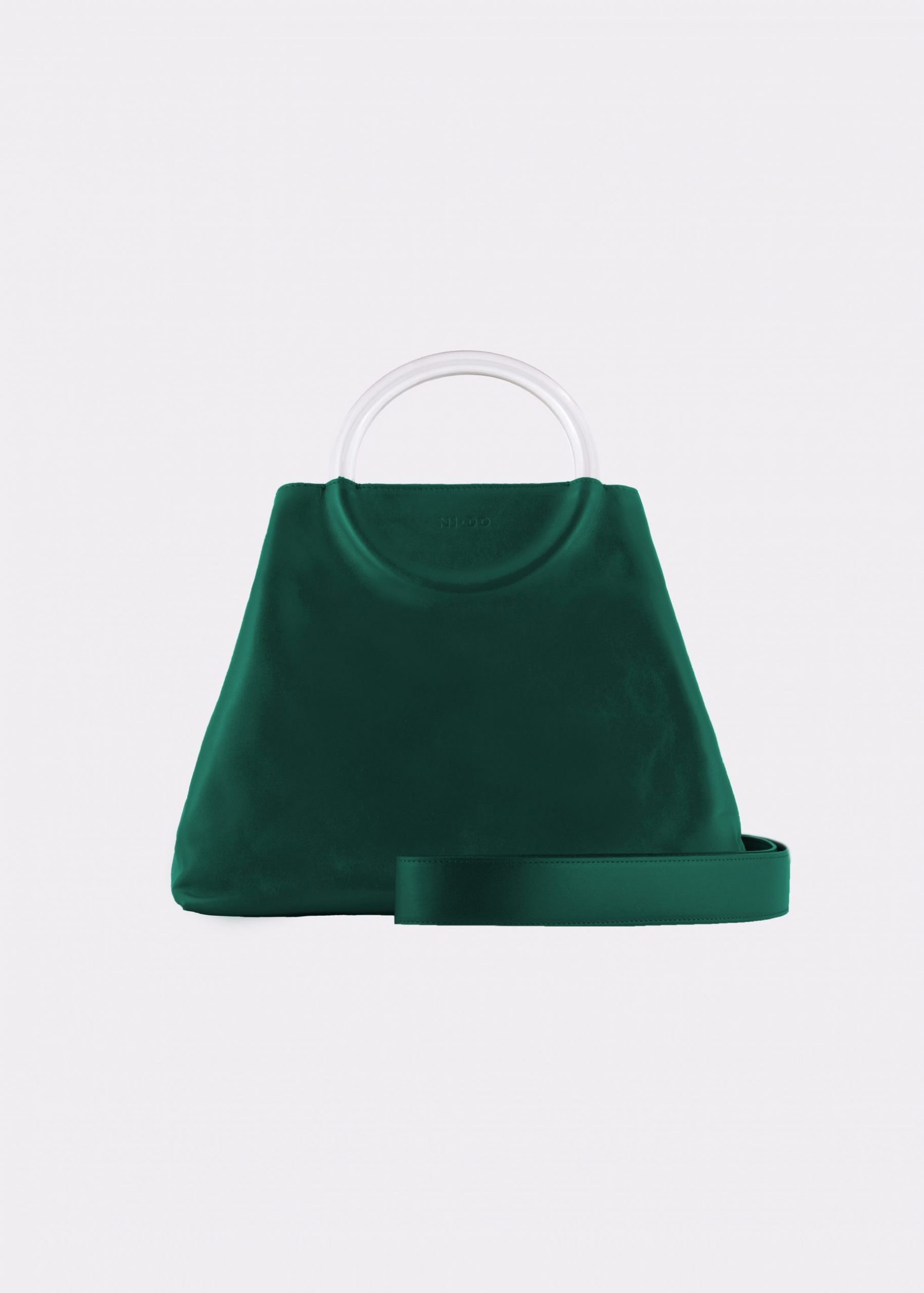 NIDO Bolla Maxi bag Emerald Green Plexy_shoulderstrap view
