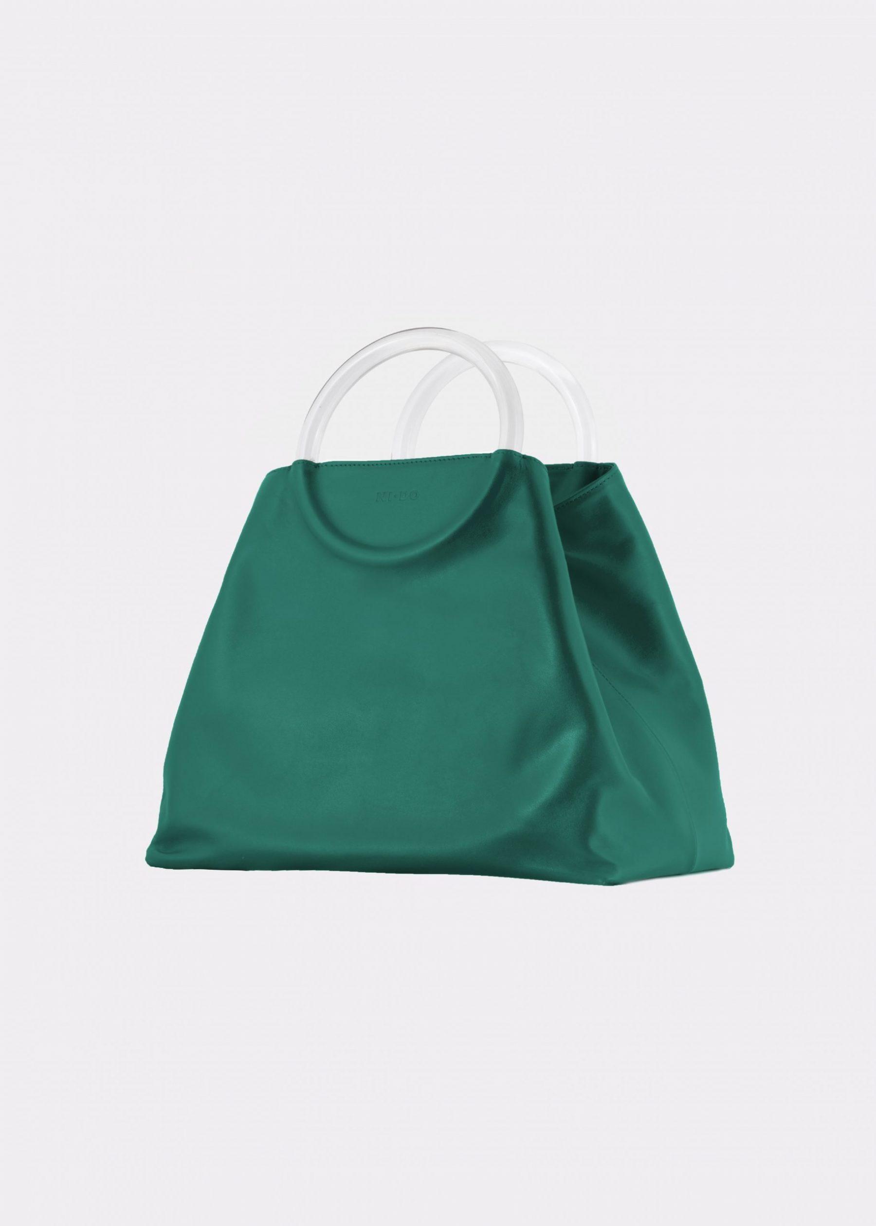 NIDO Bolla Maxi bag Emerald Green Plexy side view