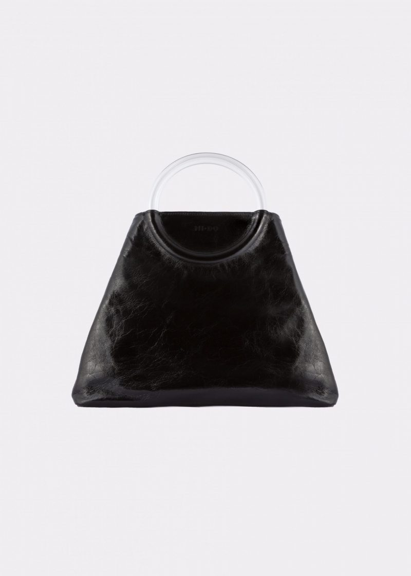 NIDO Bolla Maxi bag Glossy Black Plexy front view
