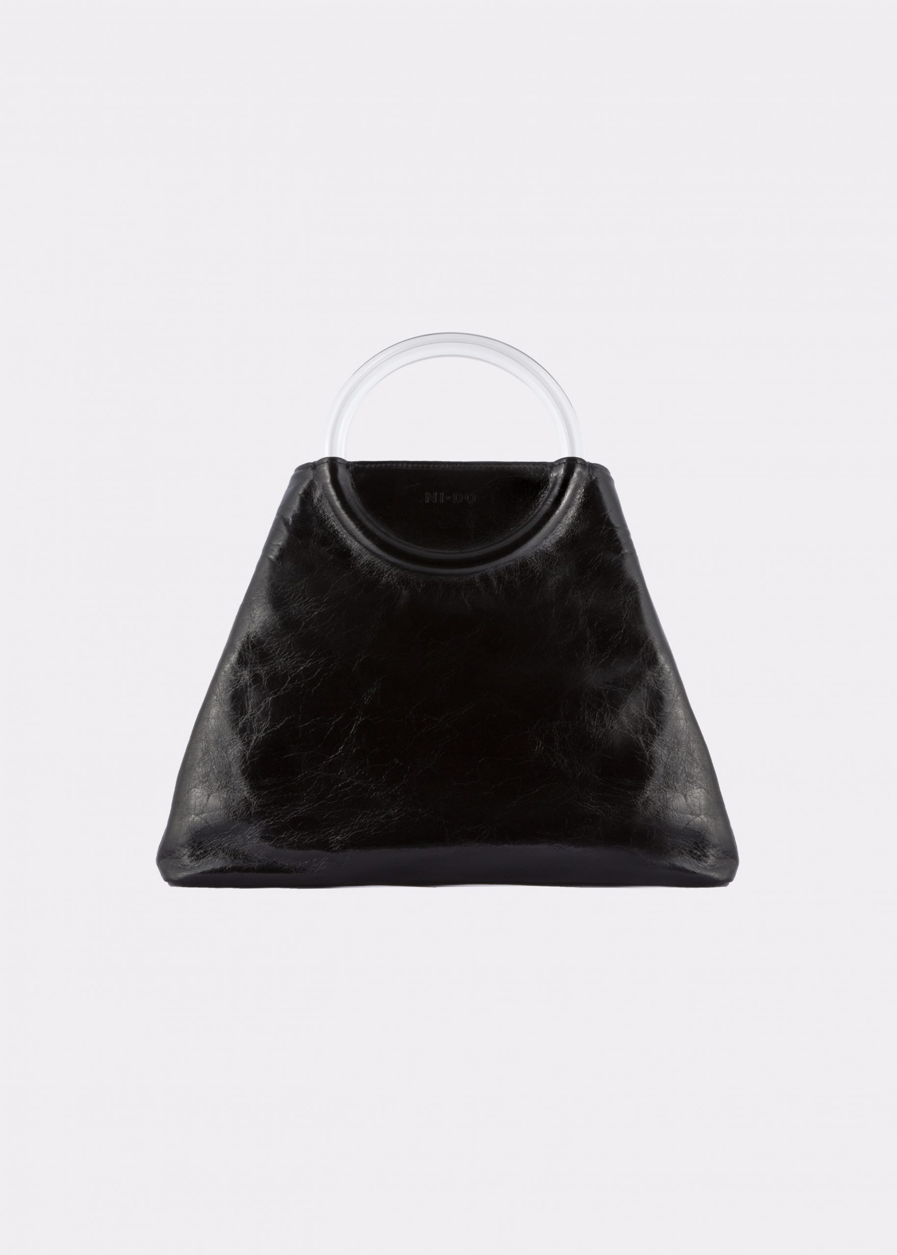 NIDO Bolla Maxi bag Glossy Black Plexy front view