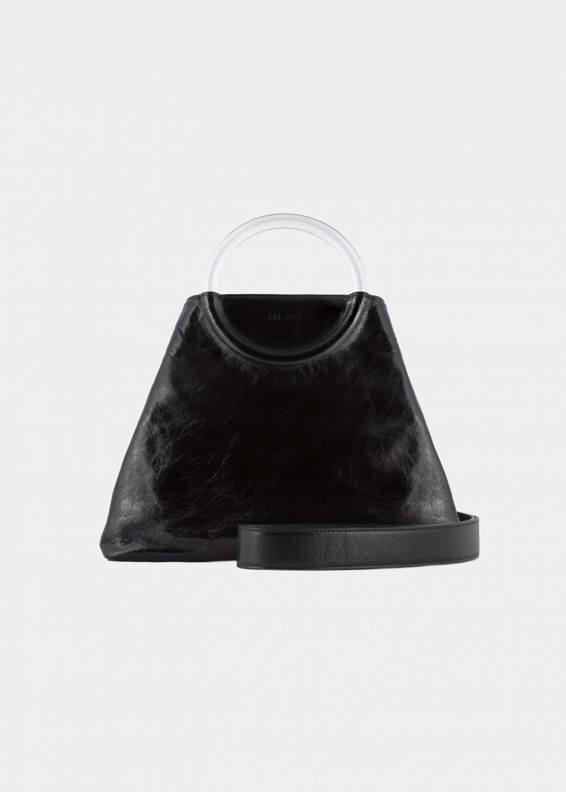 NIDO Bolla Maxi bag Glossy-Black Plexy_shoulderstrap view