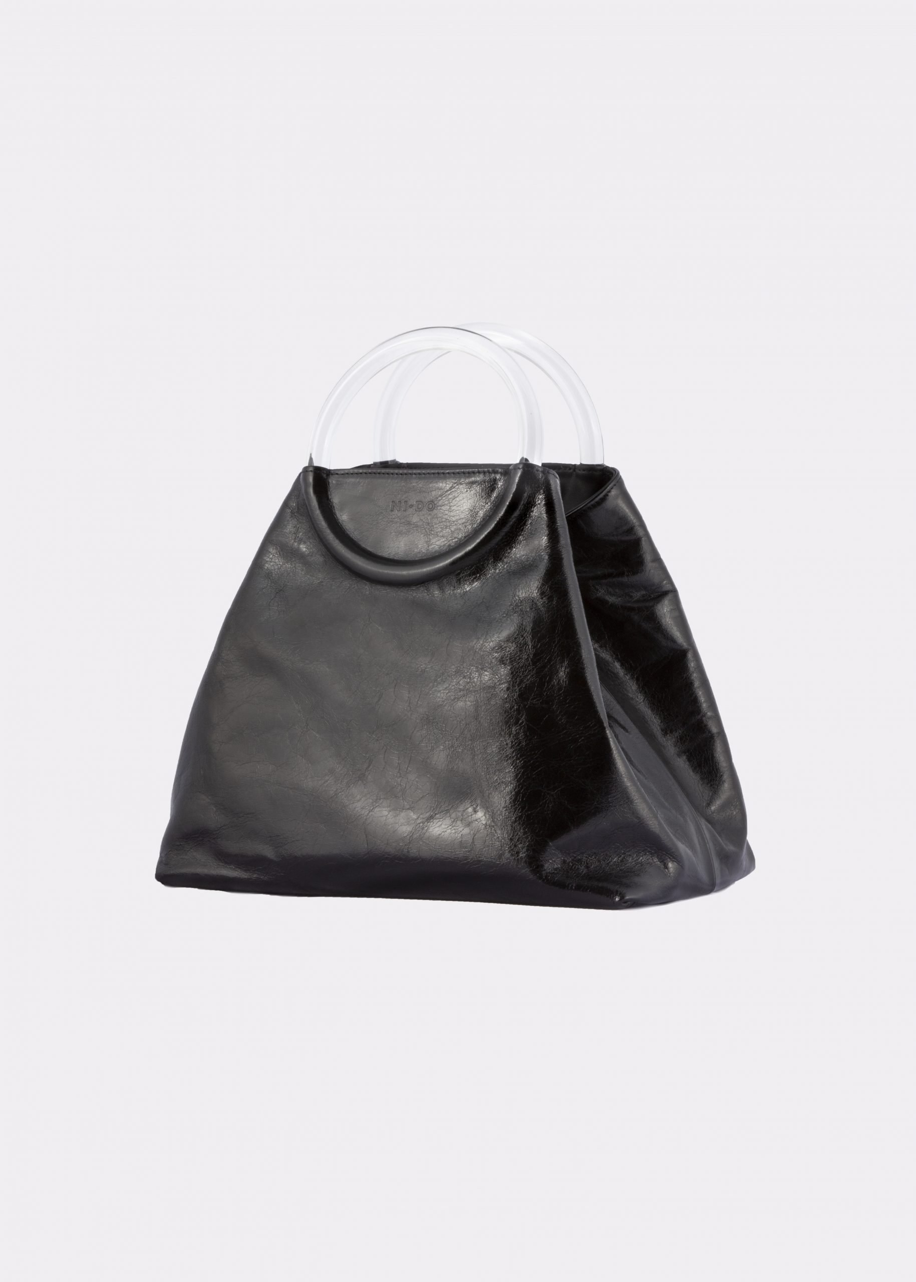 NIDO Bolla Maxi bag Glossy Black Plexy side view