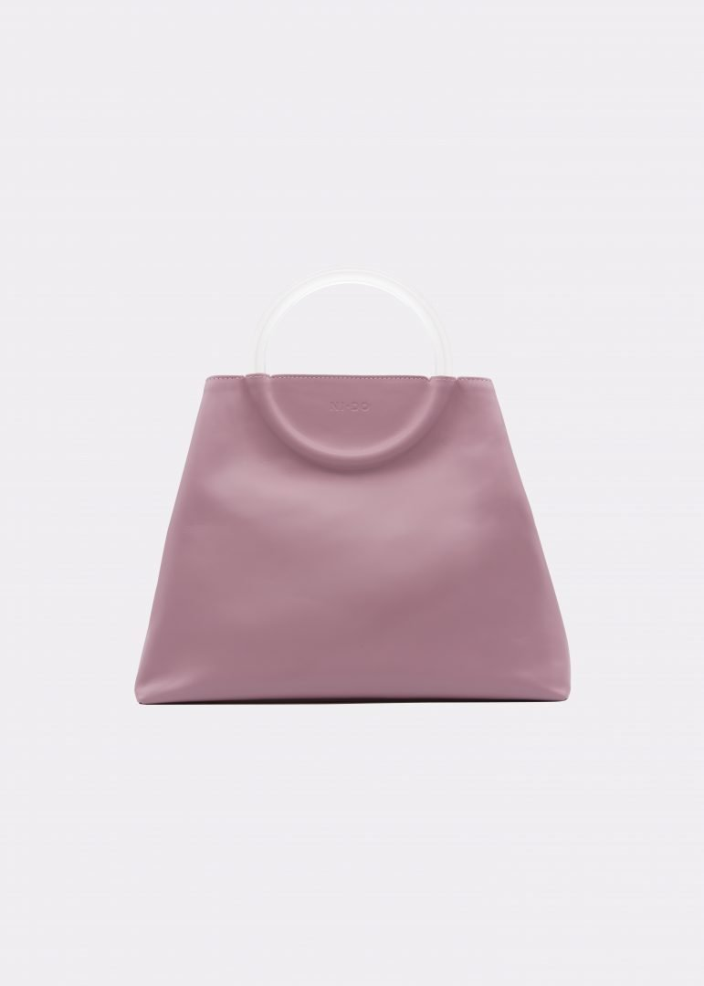 NIDO Bolla Maxi bag Liliac Plexy front view