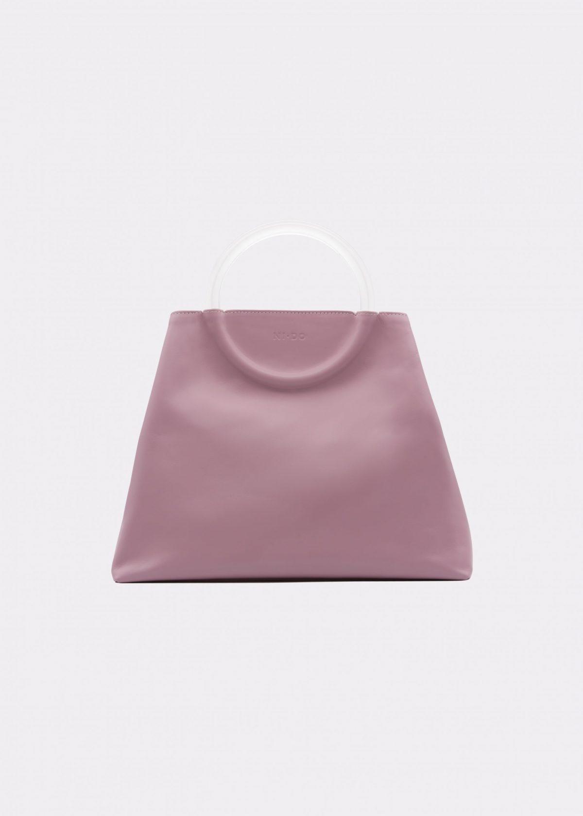 NIDO Bolla Maxi bag Liliac Plexy front view