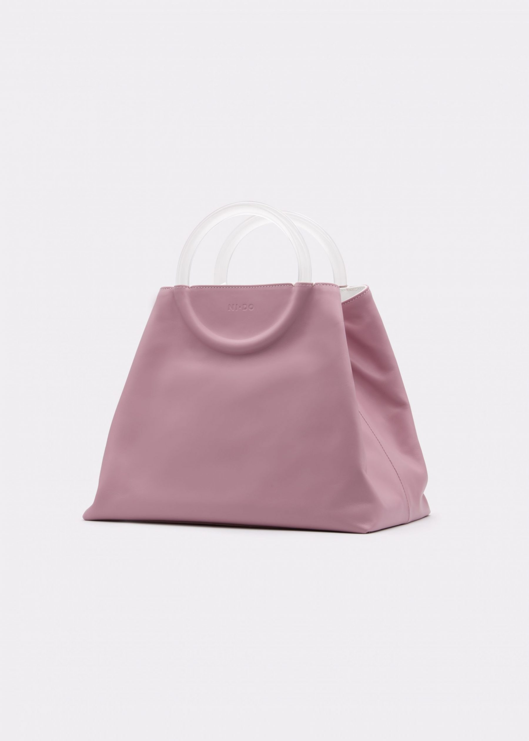 NIDO Bolla Maxi bag Liliac Plexy side view