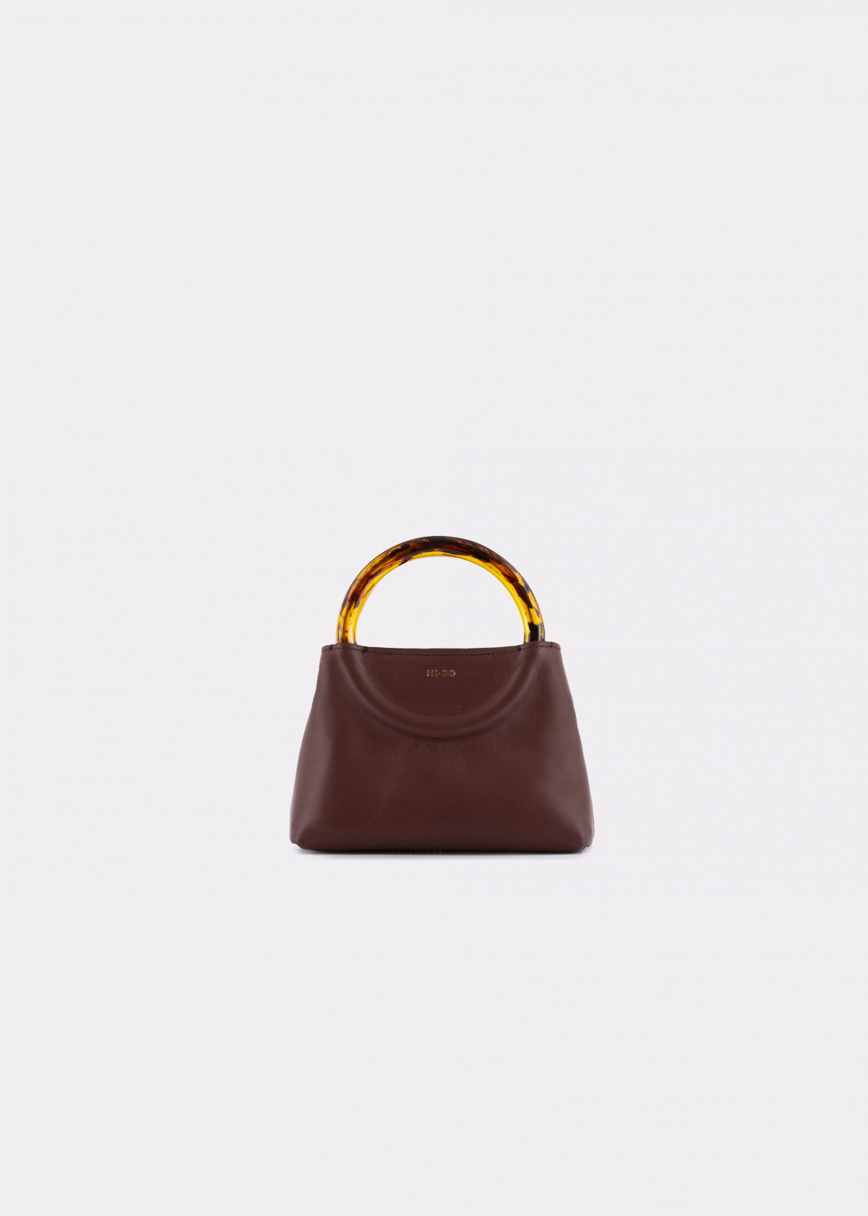 NIDO Bolla_Micro bag chestnut_front view