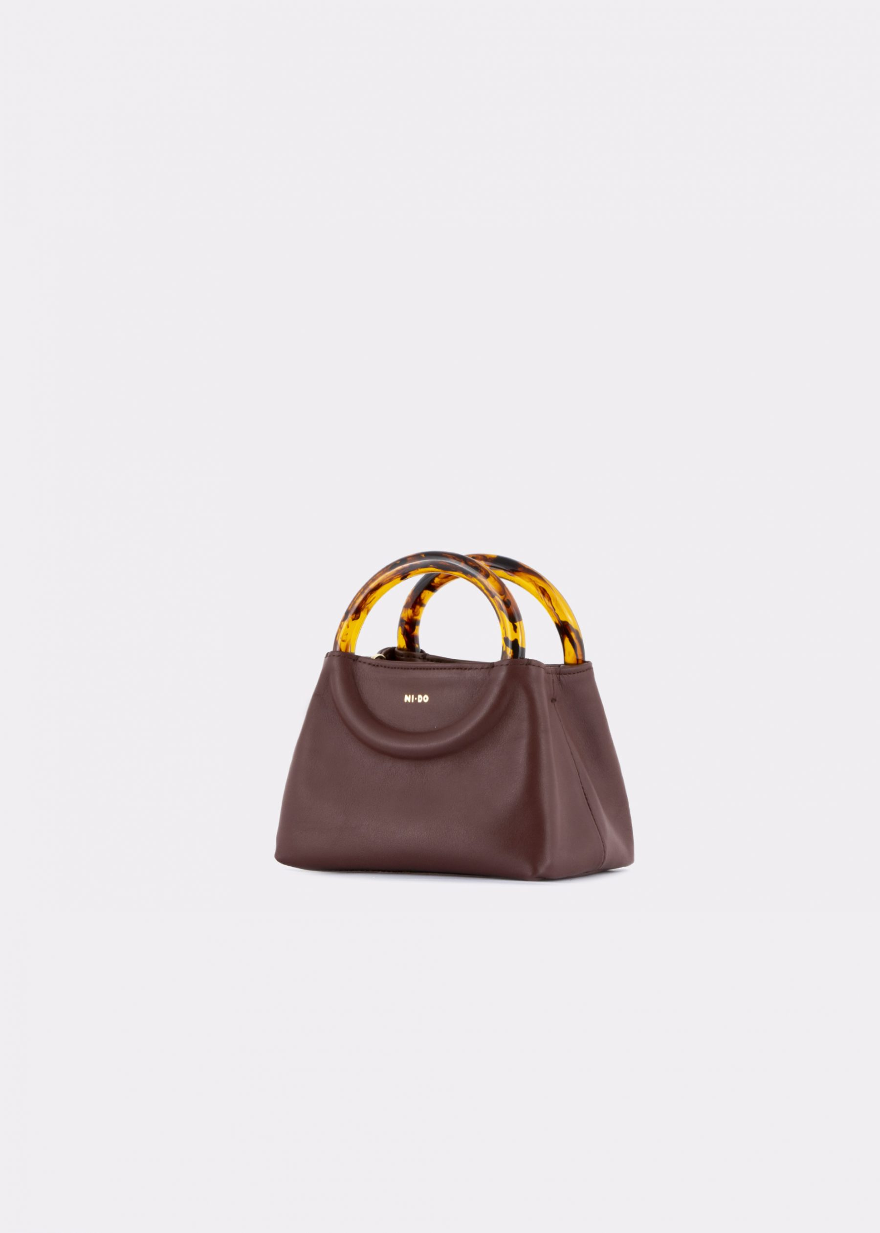 NIDO Bolla_Micro bag chestnut_side view