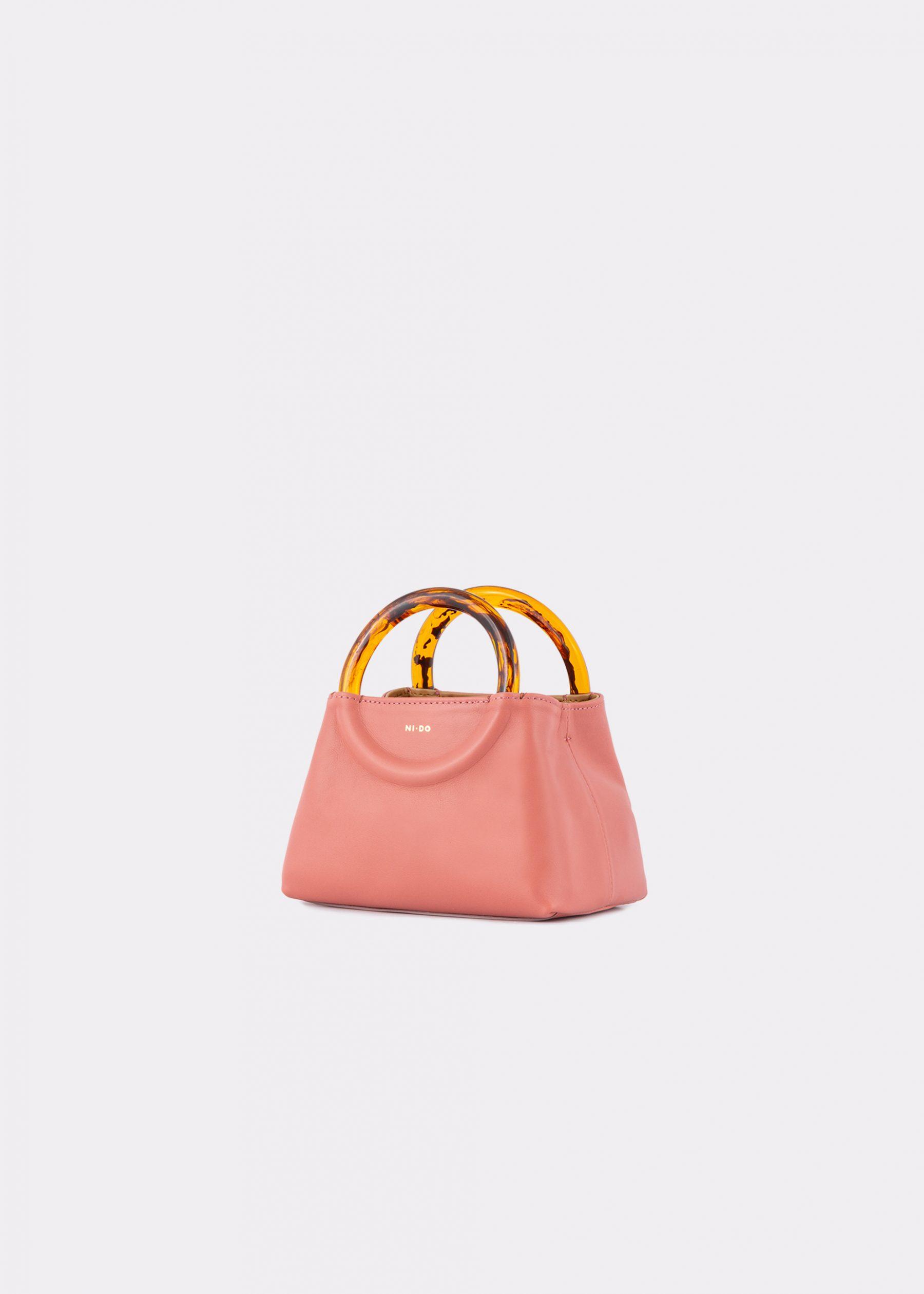 NIDO-Bolla_Micro-bag-blush_side view