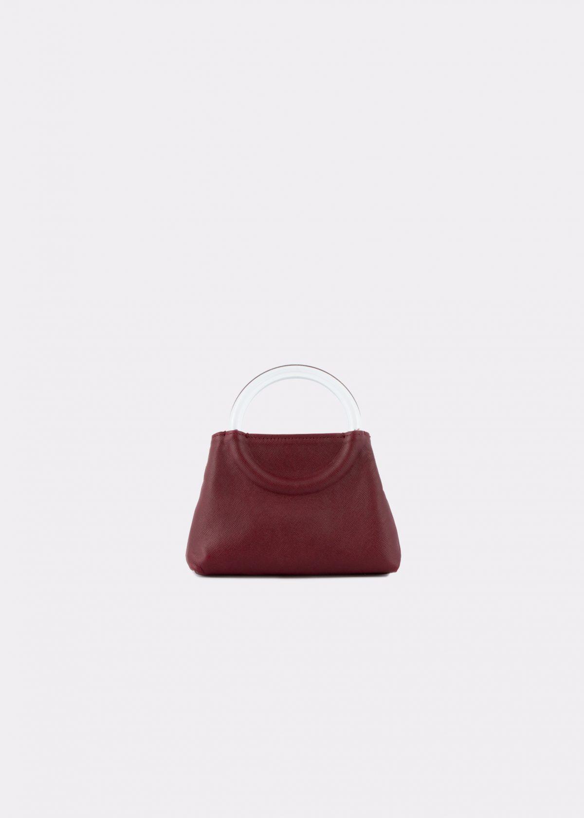 NIDO-Bolla_Micro-bag-bordeaux_front view