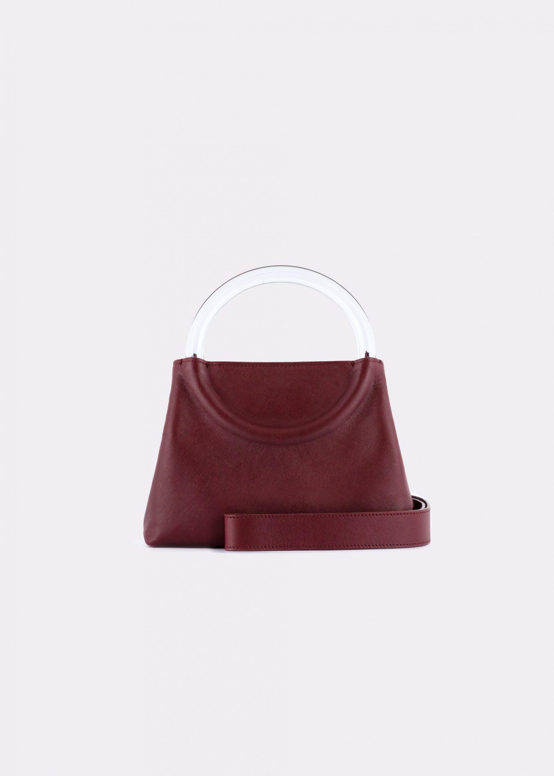 NIDO-Bolla_Mini-bag-bordeaux_shoulderstrap view