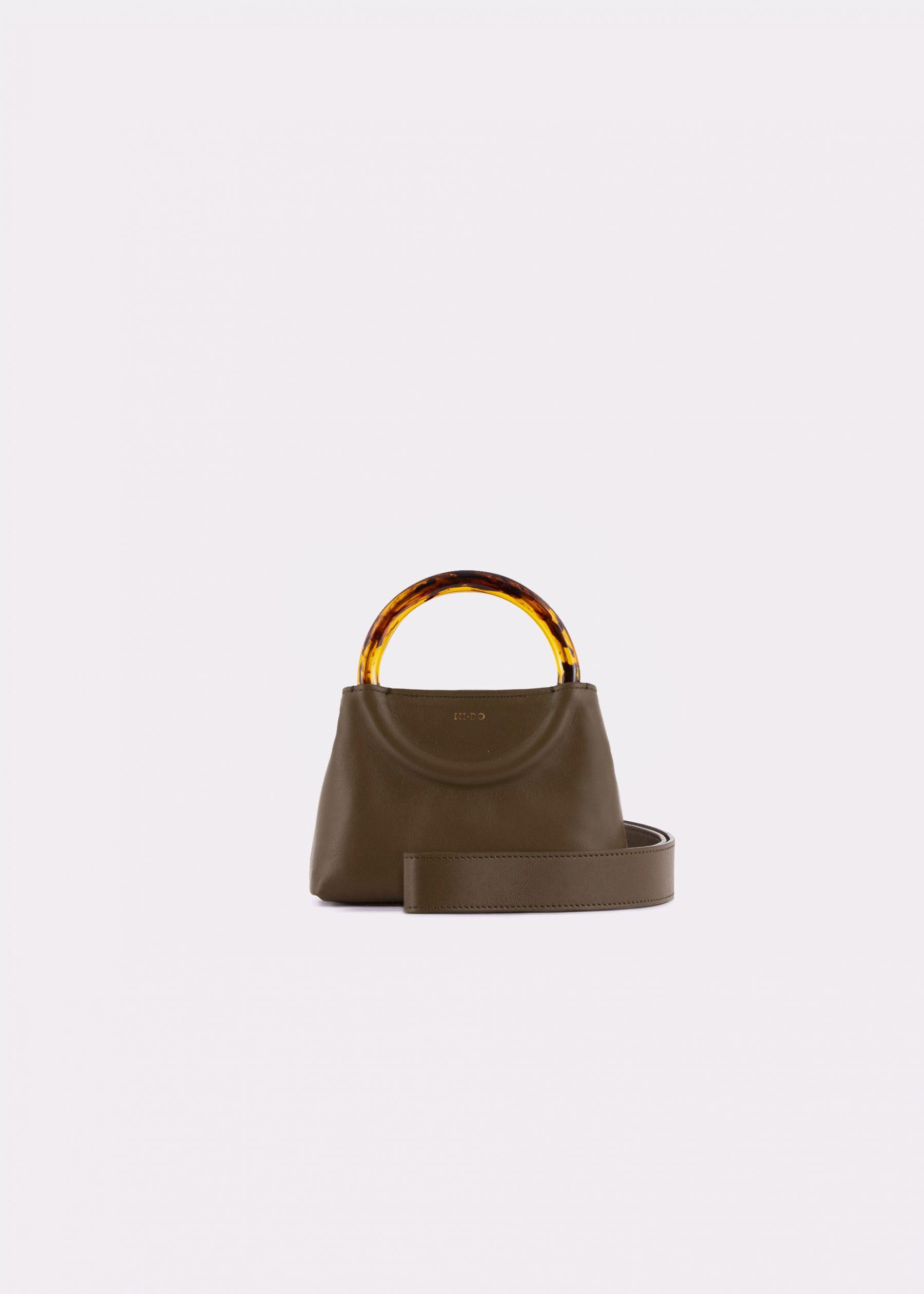 NIDO Bolla_Micro bag olive_shoulderstrap view