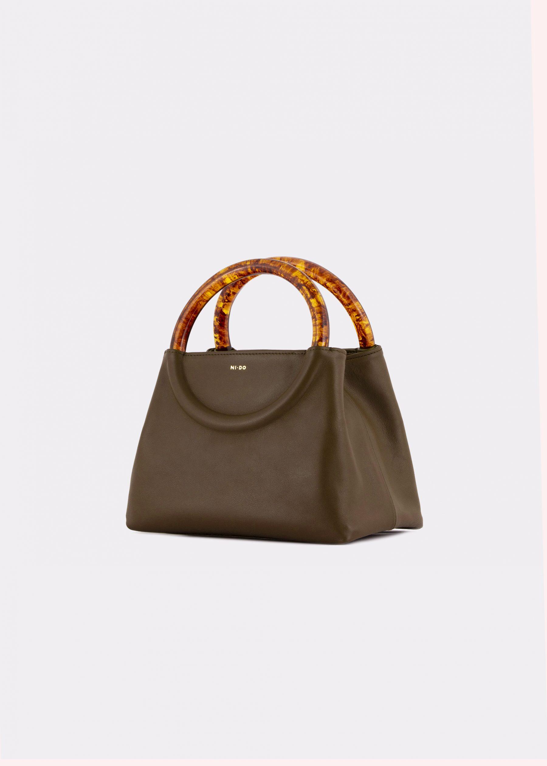 NIDO Bolla Mini bag, Olive, side view