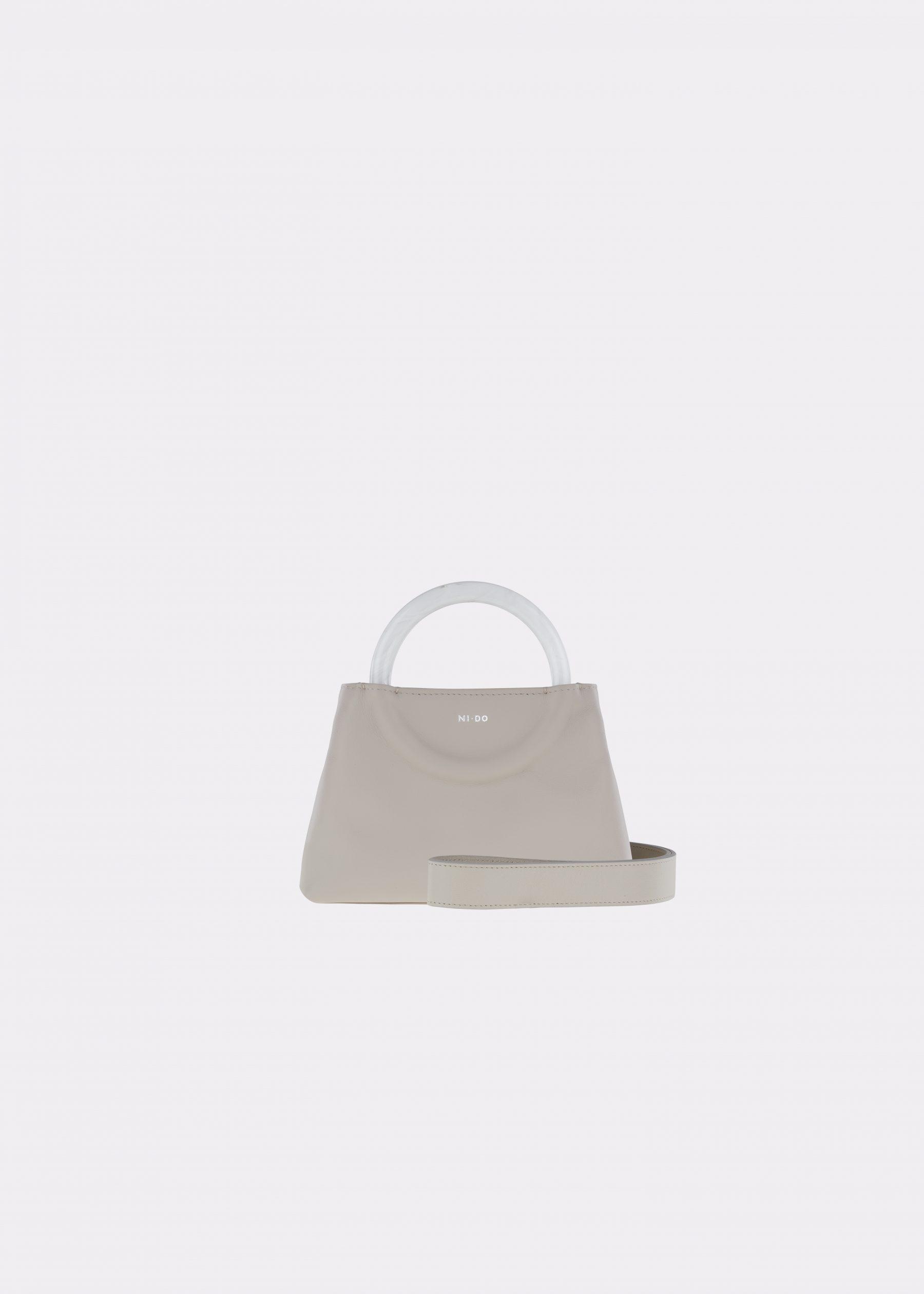 NIDO-Bolla_Mini-bag-Ice-Pearl_shoulderstrap view