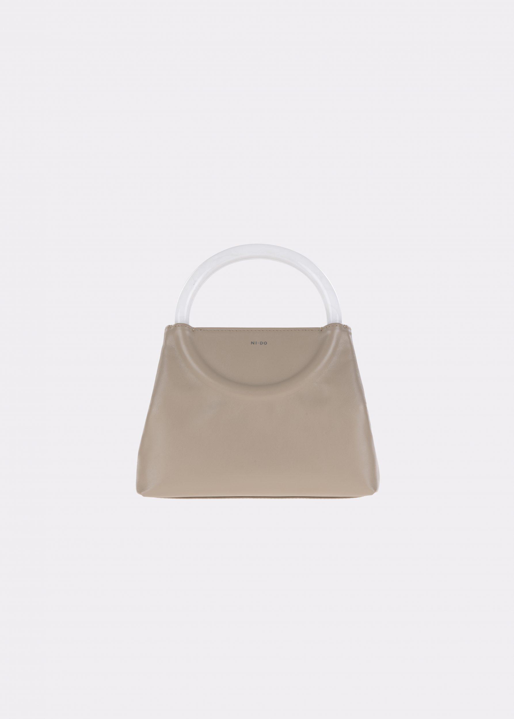 NIDO-Bolla_Mini-bag-MUD-Pearl_front view