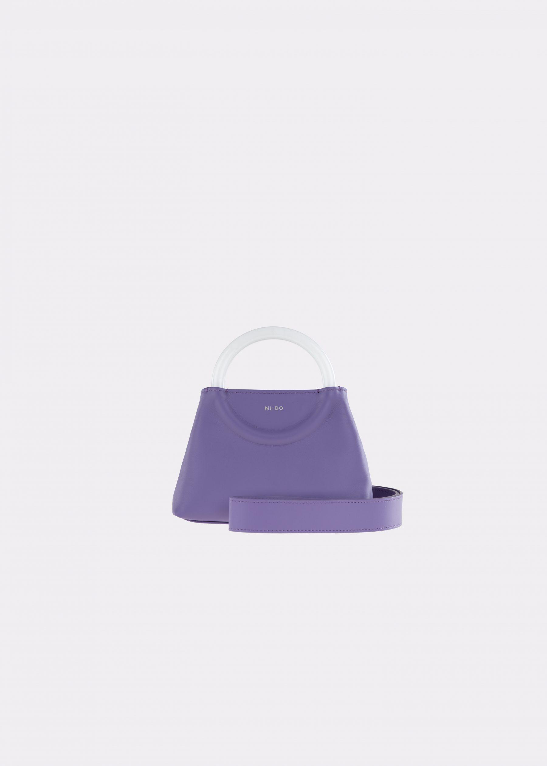 NIDO-Bolla_Mini-bag-Violetta-Pearl_shoulderstrap view