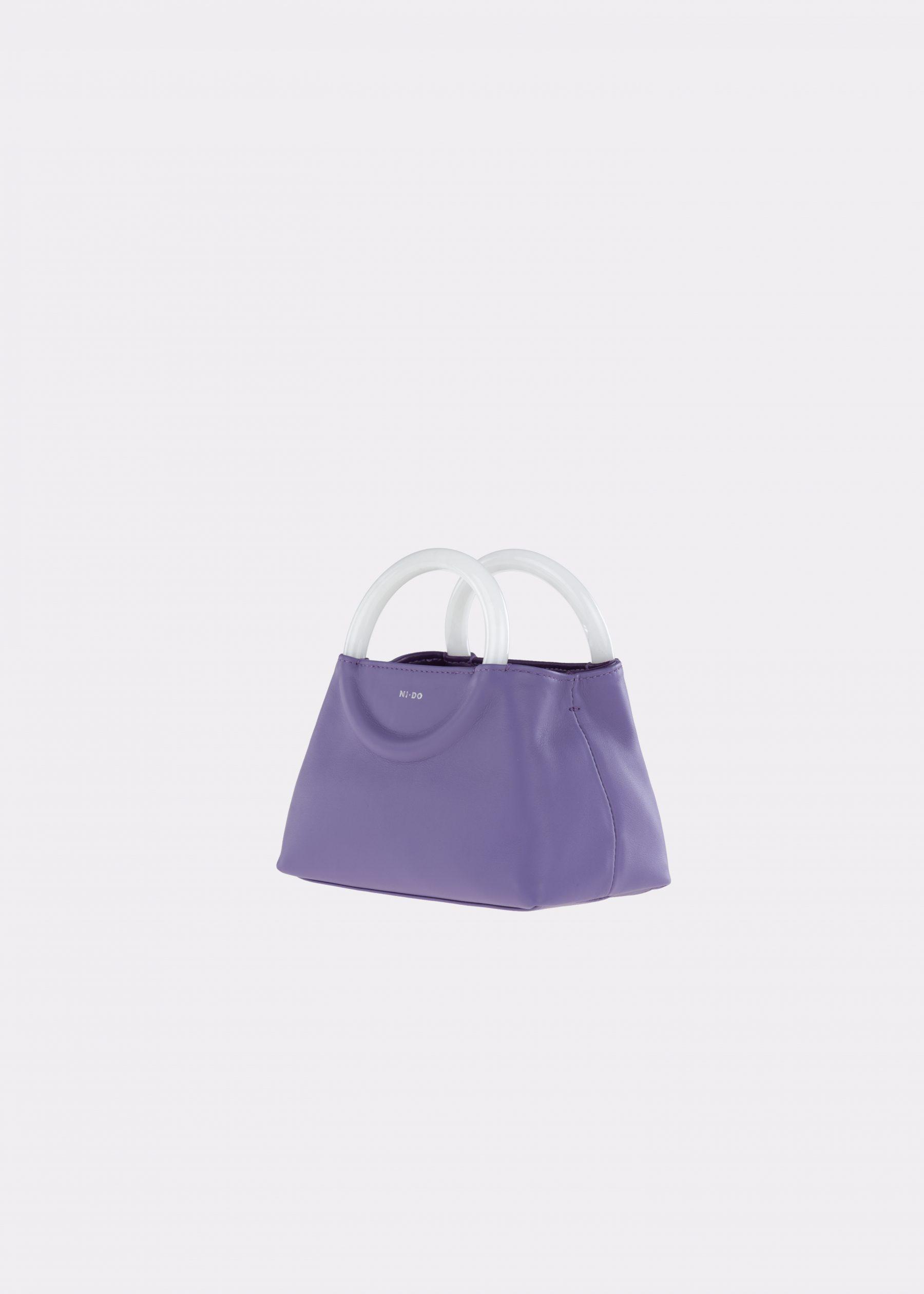 NIDO-Bolla_Mini-bag-Violetta-Pearl_side view