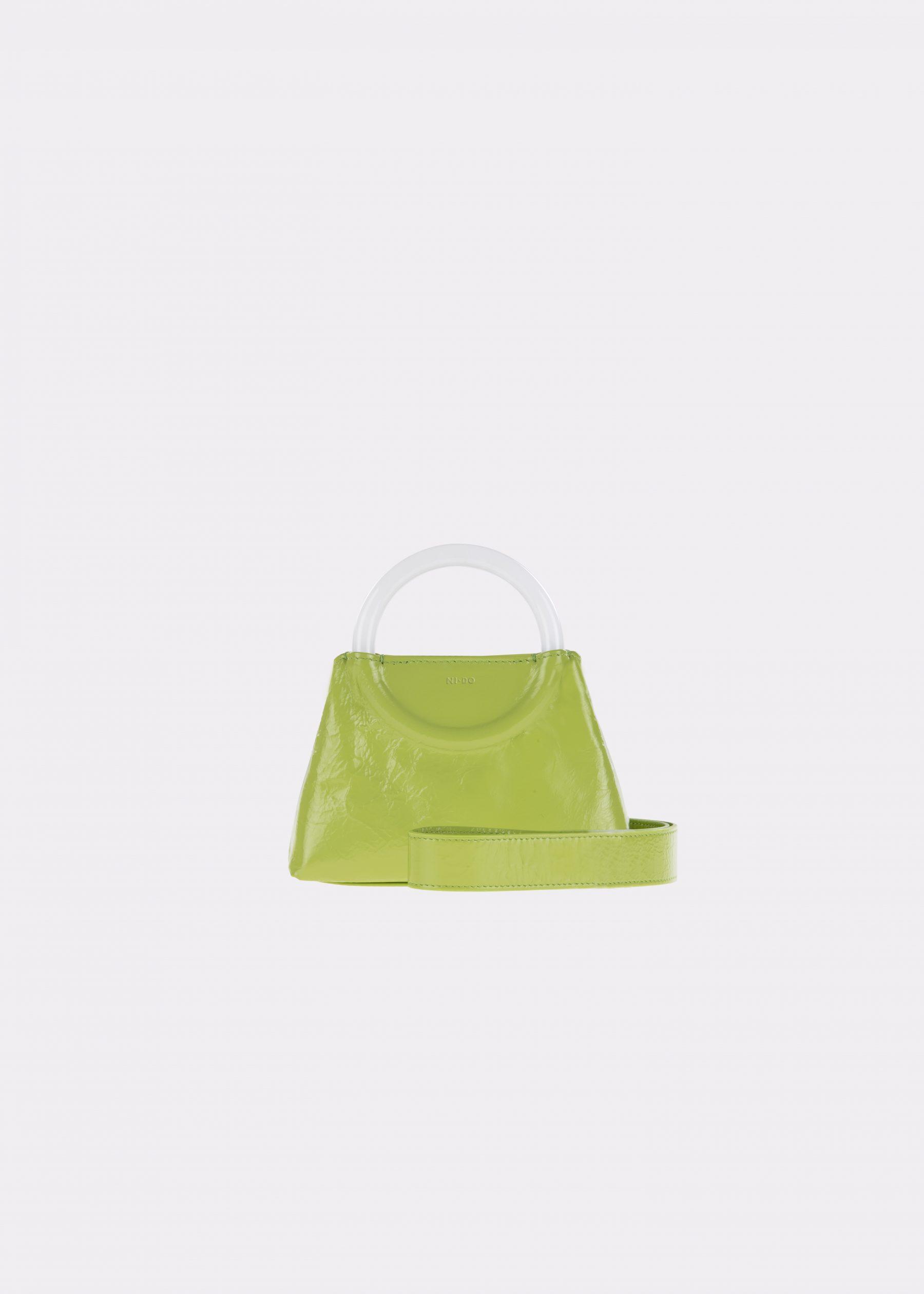NIDO-Bolla_Mini-bag-apple-Pearl_shoulderstrap view