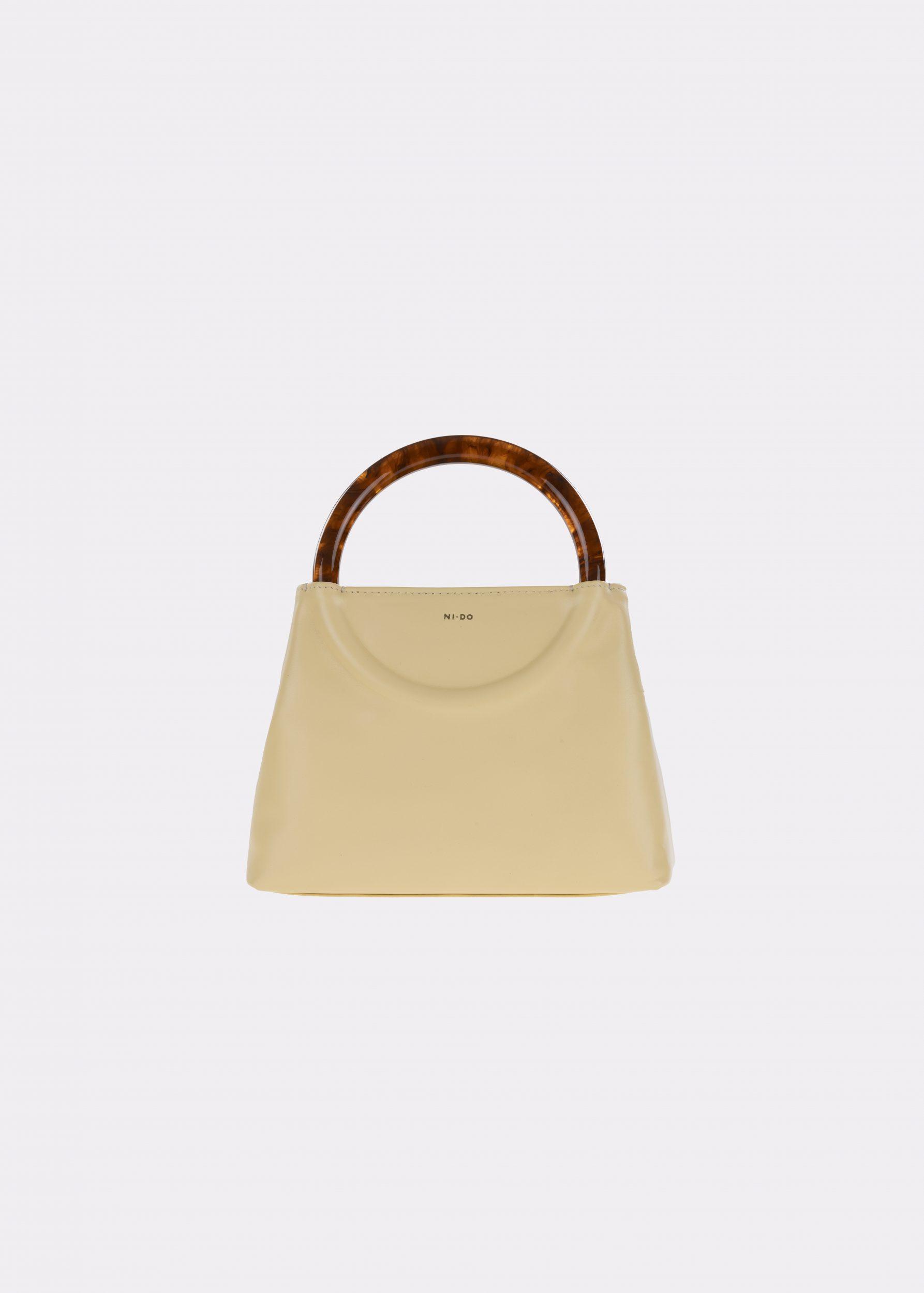 NIDO-Bolla_Mini-bag-lemontart-Amber_front view