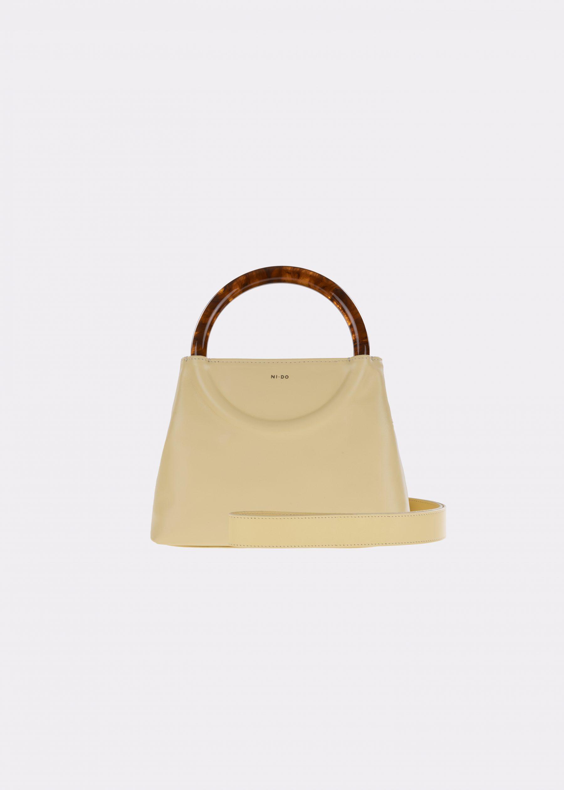 NIDO-Bolla_Mini-bag-lemontart-Amber_shoulderstrap view