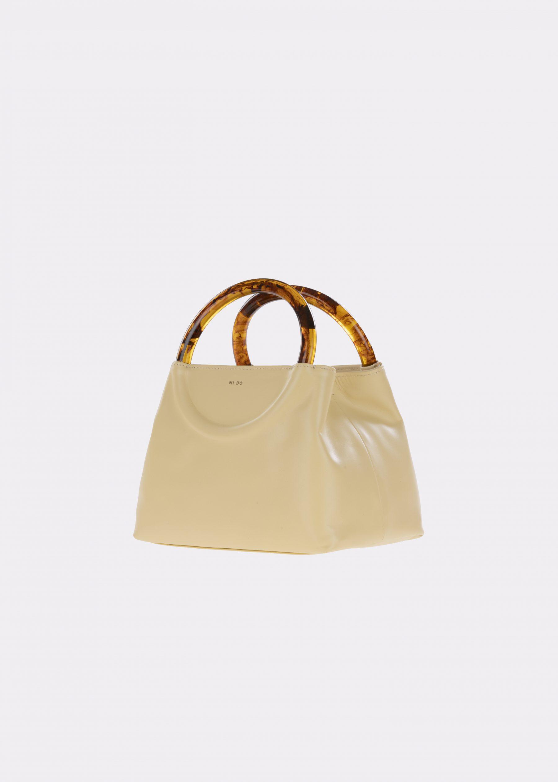 NIDO-Bolla_Mini-bag-lemontart-Amber_side view